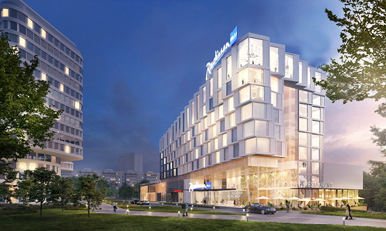 Rendering of the Radisson Blu Leninsky Prospect Hotel Moscow