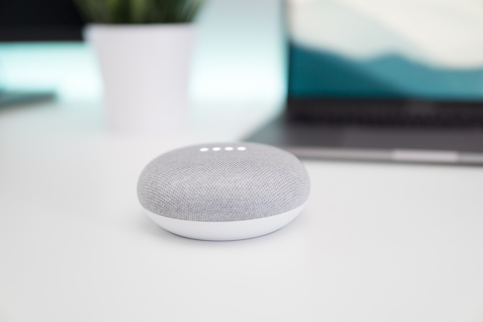 Google Home Mini - Photo by Kevin Bhagat on Unsplash