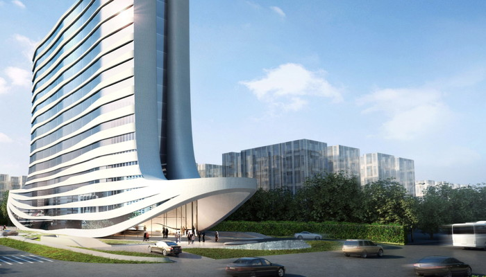 Rendering of the DoubleTree by Hilton Ahmedabad