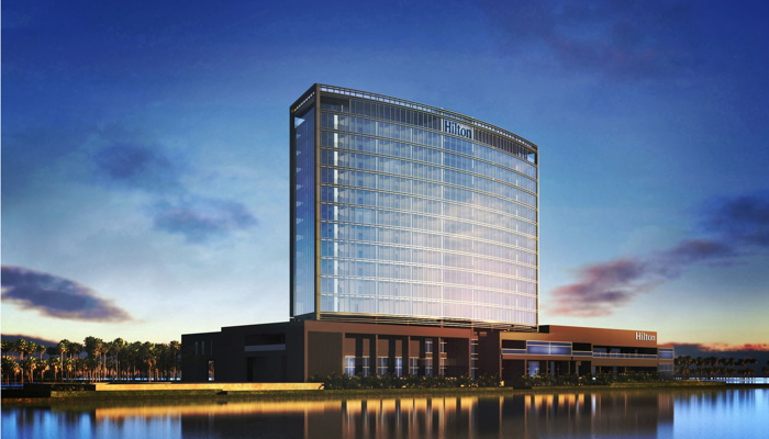 Rendering of the Hilton Monrovia