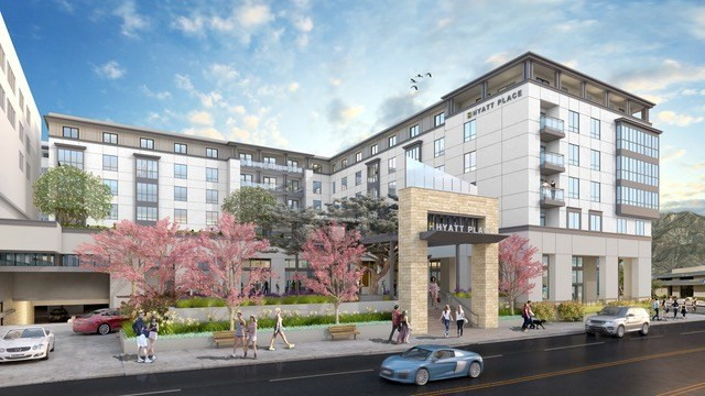 Rendering of the Hyatt Place Pasadena
