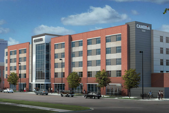 Rendering of the Cambria Hotel Omaha Downtown
