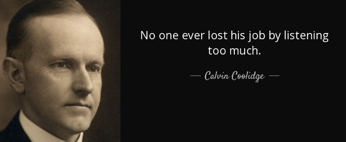 Calvin Coolidge with quote
