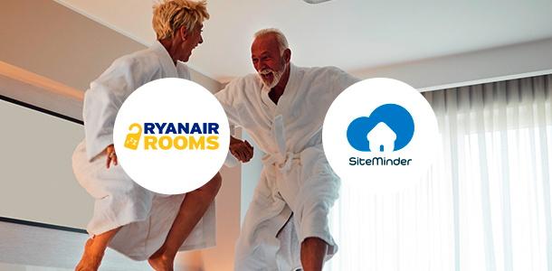 Ryanair Rooms and SiteMinder logos