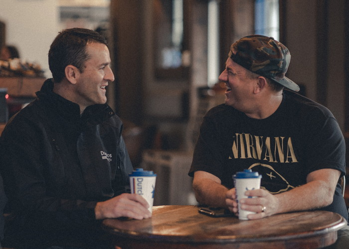Joth Ricci and Dutch Bros CEO, Travis Boersma