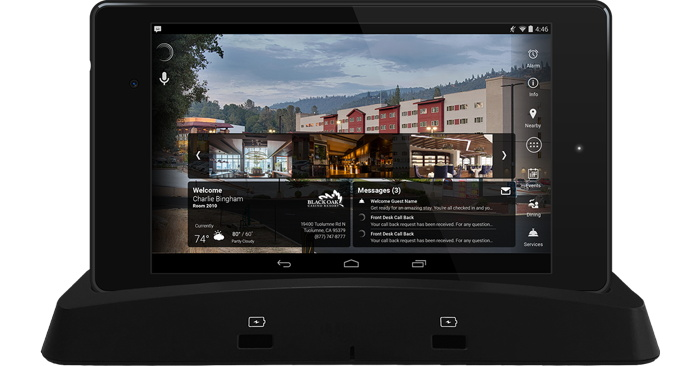 Black Oak Casino Resort in-room tablet