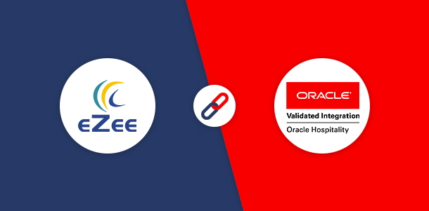 EZee Hospitality Solutions and Oracle Hospitality logos