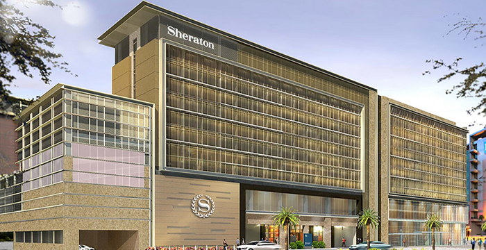 Rendering of the Sheraton Manila Hotel