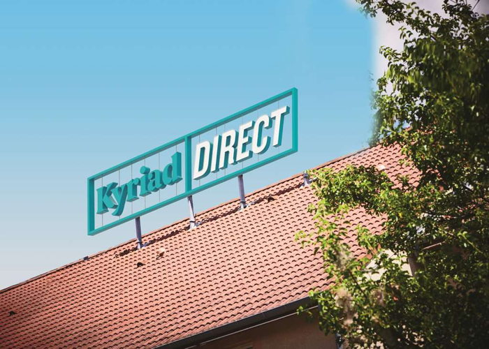 A Kyriad Direct Hotel sign