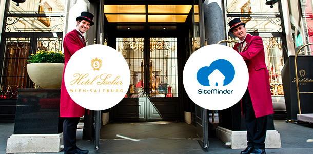 SiteMinder and Hotel Sacher logos
