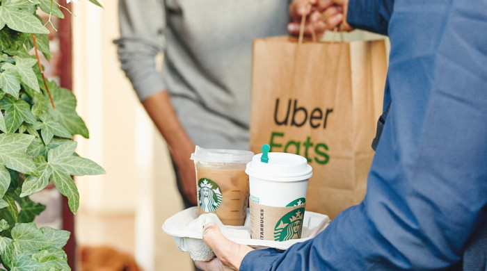 Starbucks Uber Eats package