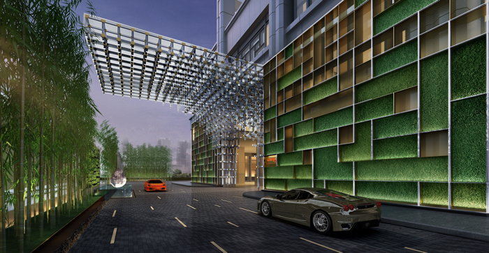 Rendering of the Canopy by Hilton Chengdu City Centre Hotel