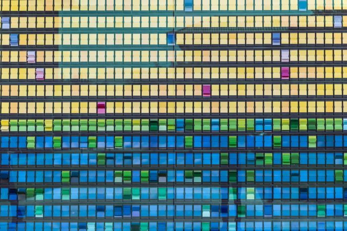 yellow, blue, and green tiles - Photo by Al x on Unsplash