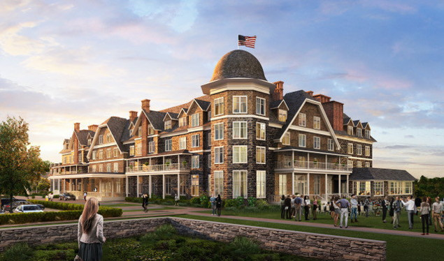 Rendering of the Hill Top House Hotel in West Virginia