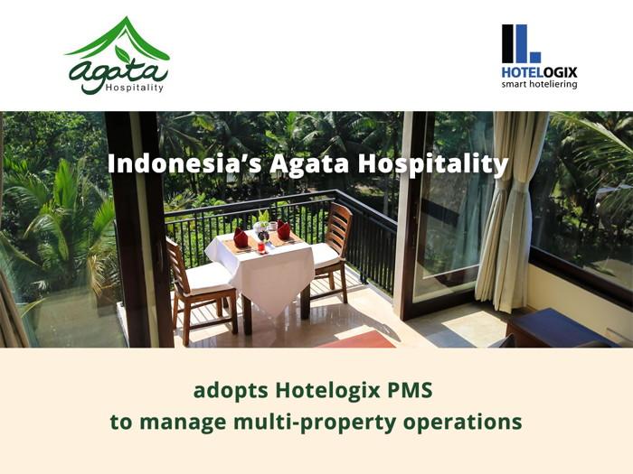 Agata Hospitality and Hotelogix logos