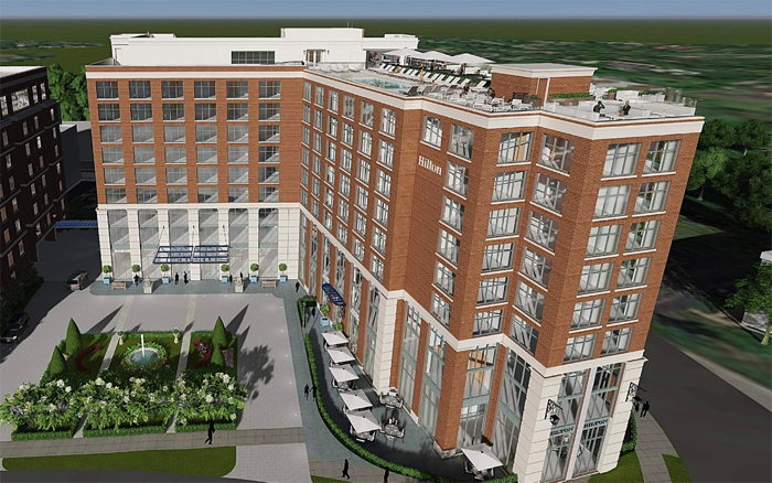Rendering of the Hilton Nashville Green Hills Hotel