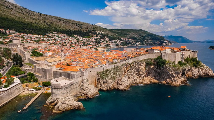 Aerial view of Dubrovnik