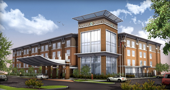 Rendering of the Cambria Hotel West Orange