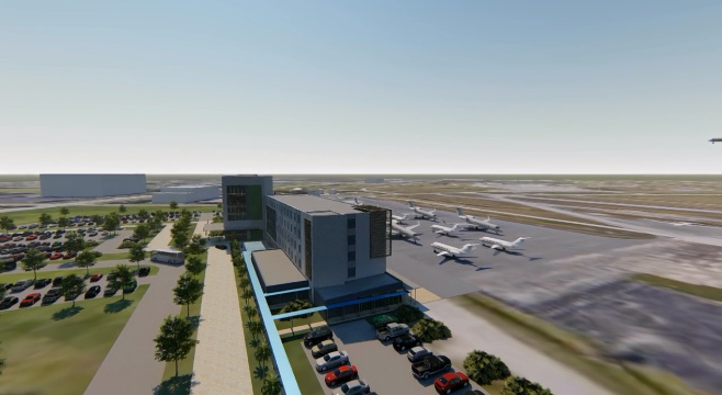 Rendering of the Fly-In Hotel