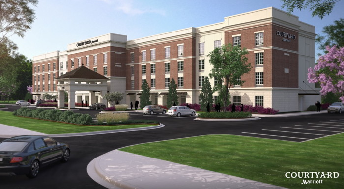 Rendering of the Courtyard by Marriott Jackson Madison Opens in Mississippi