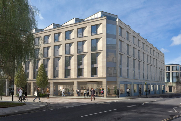 Rendering of the Hampton by Hilton London City
