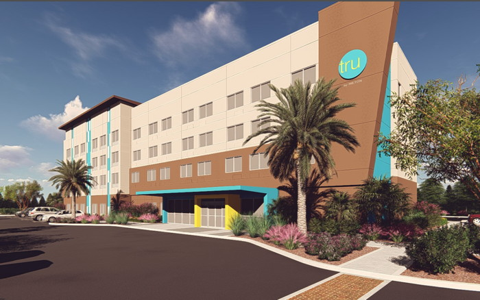 Rendering of the TRU by Hilton Hotel in Gilbert, AZ