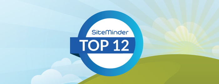 SiteMinder Top 12 badge