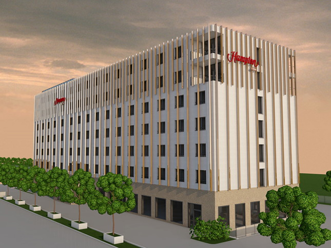 Rendering of the Hampton by Hilton Schaffhausen
