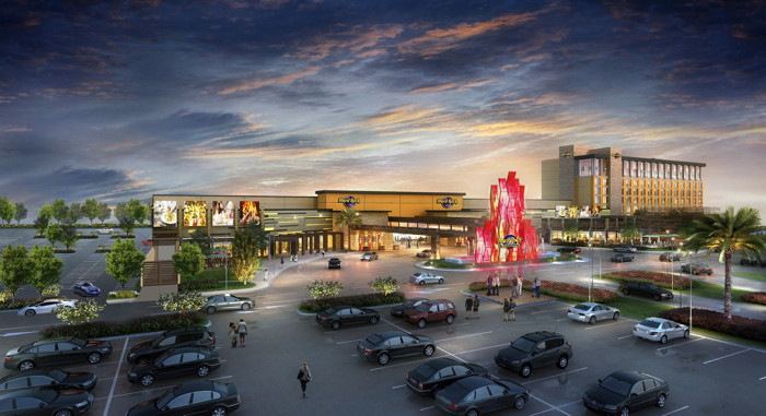 Rendering of the Hard Rock Hotel & Casino Sacramento at Fire Mountain