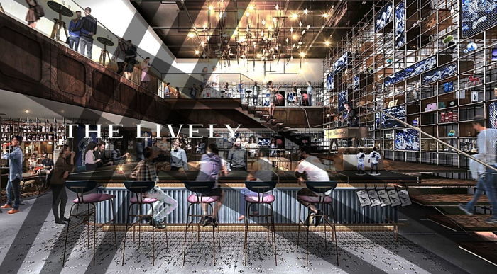 Rendering of the THE LIVELY Hotel Fukuoka lobby