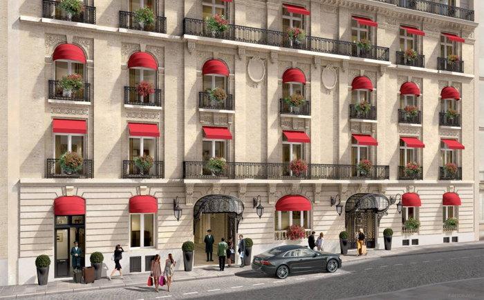 Rendering of the La Clef Champs-Élysées Paris