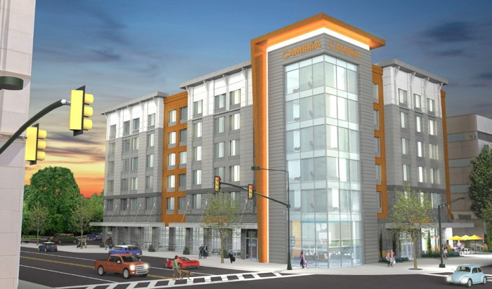 Rendering of the Cambria Hotel Spartanburg