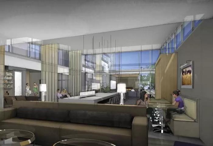 Rendering of the Best Western Plus Executive Residency Austin Lobby