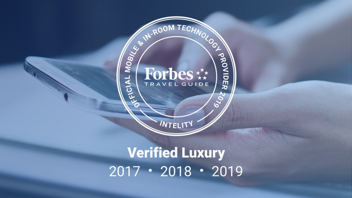 INTELITY Named 'Official Mobile and In-Room Technology Provider' by Forbes Travel Guide for Third Year