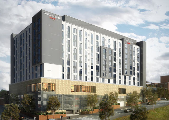 Rendering of the Dual Branded Courtyard and Residence Inn in Downtown Knoxville