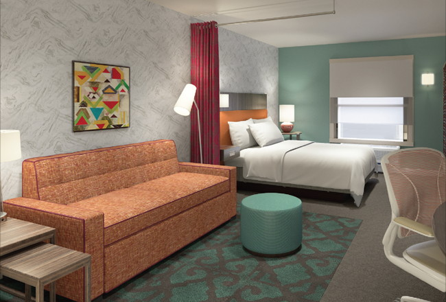 Guestroom at the Home2 Suites by Hilton Orlando Near Universal