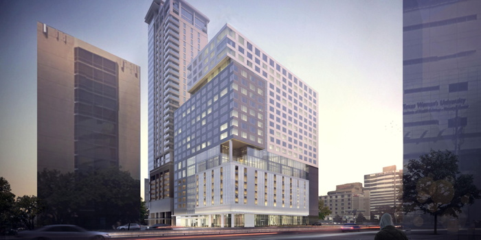 Rendering of the InterContinental Houston - Medical Center Hotel