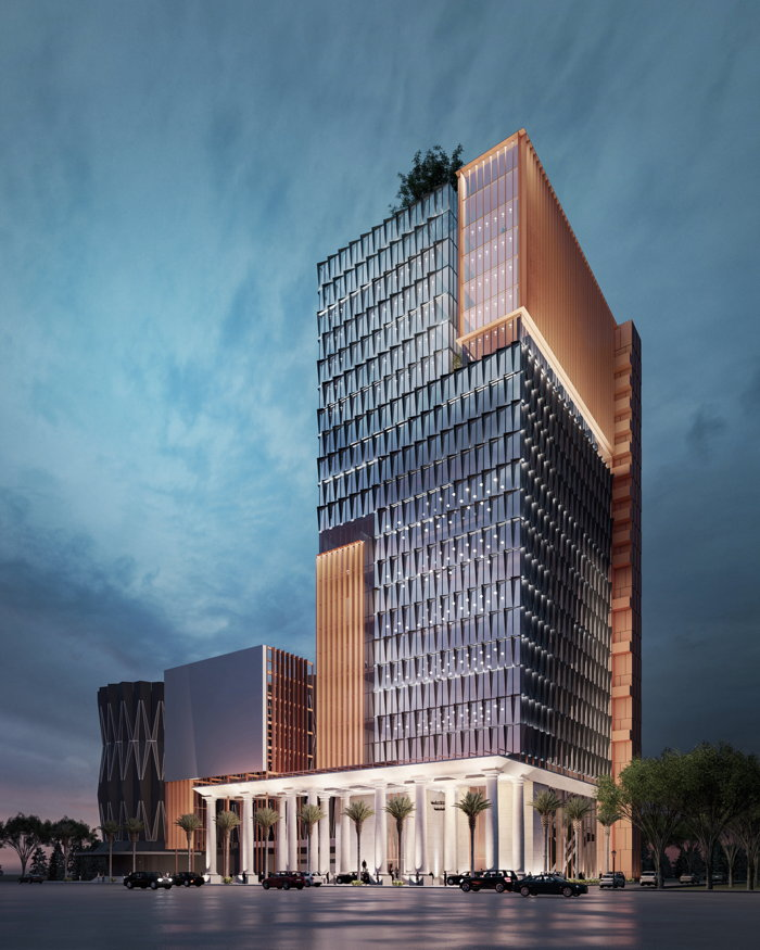 Rendering of the Hyatt Place Saigon Phu Nhuan