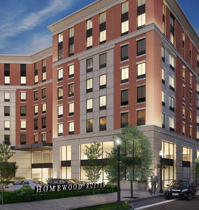 Rendering of the Homewood Suites by Hilton Providence Downtown