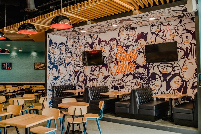 Umami Burger restaurant interior