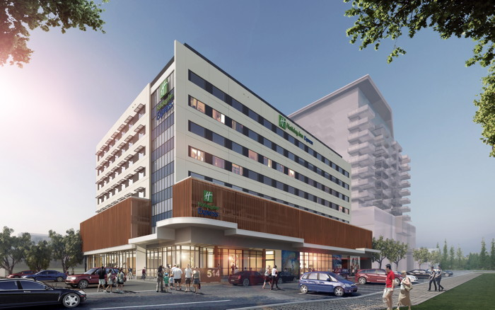 Rendering of the Holiday Inn Express Newcastle in Australia