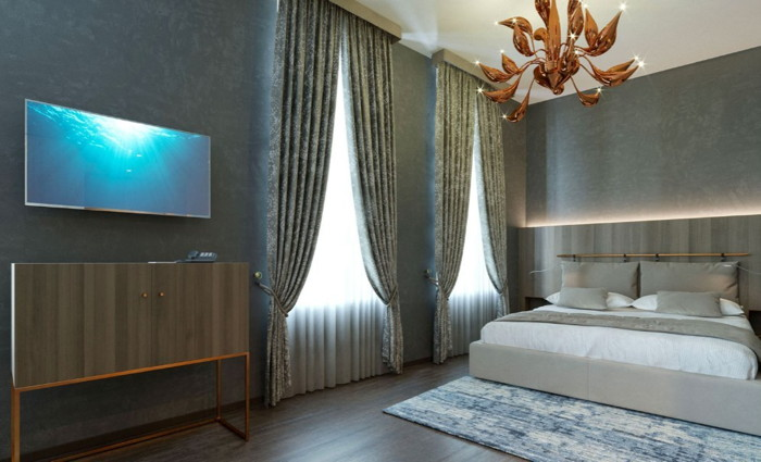Guestroom at the Hotel Aquarius Venice