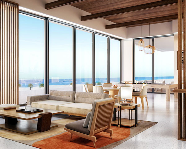 Suite at the Nobu Hotel Los Cabos
