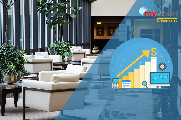 Collage with Mycloud Hospitality logo