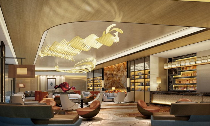 Rendering of the bar at the Crowne Plaza Moscow - Park Huaming