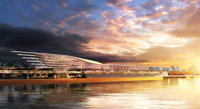 Rendering of the MSC Cruises Multi-Cruise Ship Terminal At PortMiami