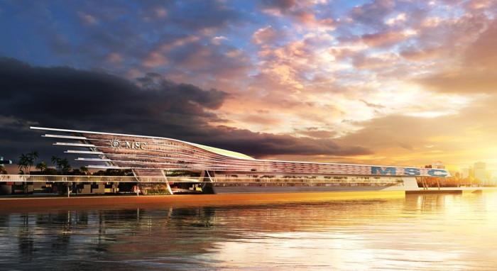 Rendering of the MSC Cruises Multi-Cruise Ship Terminal At PortMiami