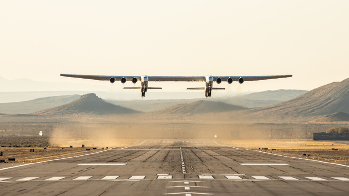 Stratolaunch Completes Historic First Flight of Aircraft