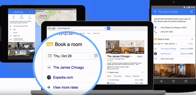 Google Hotel Search screenshot
