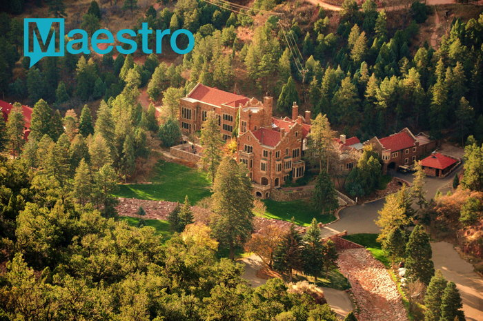 Glen Eyrie Conference Center - Aerial view